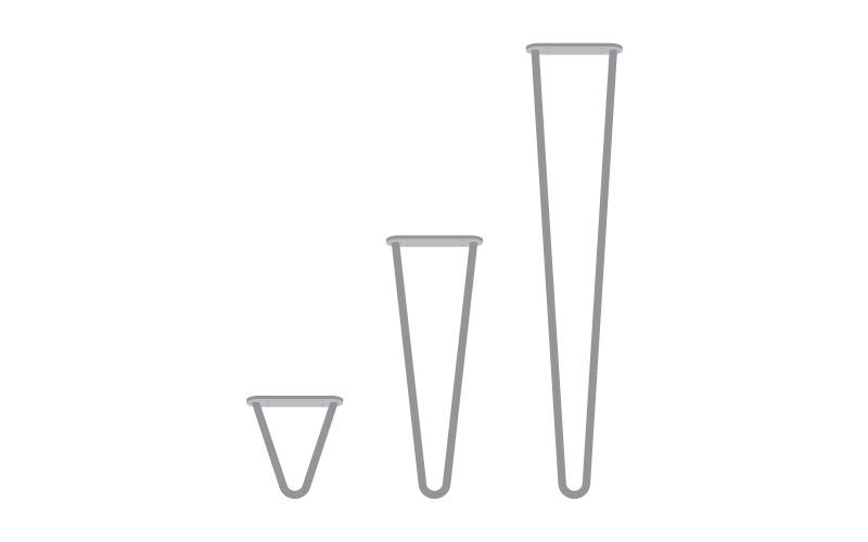 MWIN propose 3 tailles de piétement design pour tous les meubles